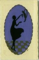 1920s ART DECO POSTCARD - WOMAN SILHOUETTE & PARROT - CHAMPAGNE ROBERT DURLAC  - VERVIERS (BG204) - Illustrators & Photographers