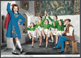 PC 2/85 J.HINDE-Traditional Irish Dancers,Ennis,Co.Clare,Ireland. Unused - Danses