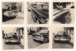 Photo Ancienne ( Années 1960 ) : 6 Photos Voiture Simca Aronde Grand Large Accidentée - Automobiles