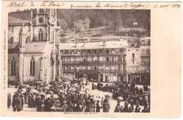 CPA VOSGES.PLOMBIERES-les-BAINS.BENEDICTION DES BAINS - Plombieres Les Bains