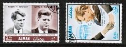 AJMAN  Michael # 299-300 VF USED (Stamp Scan # 483) - Ajman