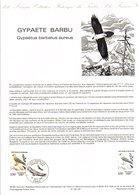 DOCUMENT FDC 1984 RAPACES - GYPAETE BARBU - Postdokumente