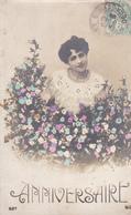 Portrait De FEMME De La BELLE EPOQUE - Anniversaire - A Voir 2 Scans - Femmes