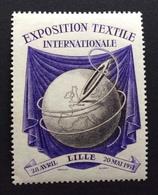 TESSUTI INDUSTRIA TESSILE LILLE  20 MAGGIO 1951 EXPOSITION TEXTILE INTERNATIONALE   ERINNOFILO - Cinderellas