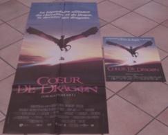 2 AFFICHES CINEMA ORIGINALE FILM COEUR DE DRAGON Rob COHEN Dennis QUAID David THEWILS 1996 TBE - Affiches & Posters