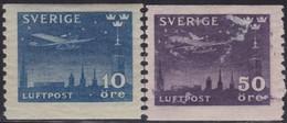 Zweden   .   Yvert       .    Lucht  4/5   .    **   .     Postfris    .  /   .   MNH - Ongebruikt