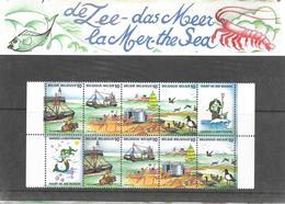 Pochette Thématique 2273/2276 - La Mer - De 1988 - Belgique