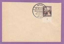 WIEN,17.12.1939,WEINACHTSWÜNSCHE MIT WHW BRIEFMARKEN. - Lettres & Documents