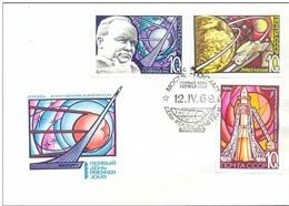 UdSSR 1969 DAY OF COSMONAUT, S S S R, FDC - Russie & URSS