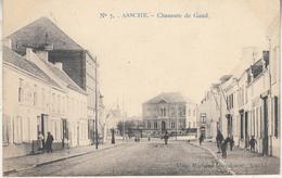 Asse - Assche - Chaussée De Gand - Geanimeerd - 1912 - Uitg. Richard Dieudonné, Assche/Marcovici Nr 7 - Asse