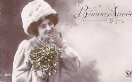 Portrait De FEMME De La BELLE EPOQUE - Bonne Année - A Voir 2 Scans - Femmes