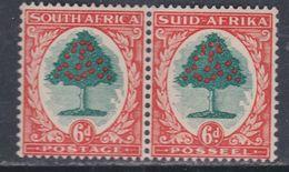 Afrique Du Sud N° 43 + 52 XX  : 6 P. Orange  Et Vert  Les 2 Valeurs Se Tenant Horizontalement Sans Charnière, TB - South Africa (...-1961)