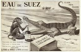 """PUB DENTIFRICE  """" EAU De SUEZ """" Par ANDREINI  1909 ( 5 ) - Publicité"""