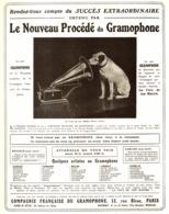 """PUB """" COMPAGNIE FRANCAISE De GRAMOPHONE   """" 1909 ( 2 ) - Technical"""