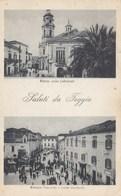 FOGGIA-SALUTI MULTIVEDUTE(2 IMMAGINI)-CARTOLINA NON VIAGGIATA ANNO 1915-1925 - Foggia