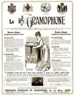 """PUB """" COMPAGNIE FRANCAISE De GRAMOPHONE   """" 1909 ( 3 ) - Technical"""