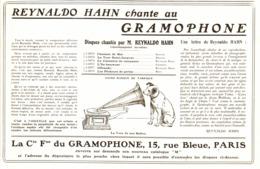"""PUB """" COMPAGNIE FRANCAISE De GRAMOPHONE   """" 1909 ( 6 ) - Technical"""