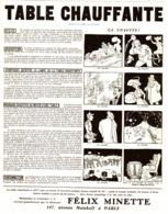 "PUB TABLE CHAUFFANTE  "" FELIX MINETTE ""   1909 ( 2 ) - Technical"