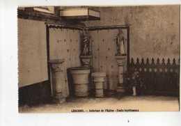 29  LESCONIL Interieur De L'Eglise Fonts Baptismaux - Lesconil