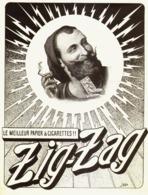 """PUB PAPIERS à CIGARETTES    """" ZIG-ZAG  """"  1909  ( 4 ) - Tabac (objets Liés)"""