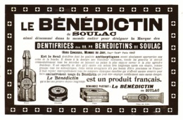 "PUB SAVON DENTIFRICE "" BENEDICTINS De SOULAC "" 1909 ( 6 ) - Other"