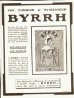 """PUB    """" BYRRH  """" ( CONCOURS Du BYRRH )  1909  ( 56 ) - Alcohols"""