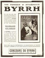 """PUB    """" BYRRH  """" ( CONCOURS Du BYRRH )  1909  ( 57 ) - Alcohols"""