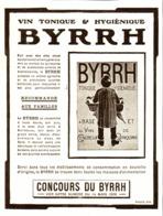"""PUB    """" BYRRH  """" ( CONCOURS Du BYRRH )  1909  ( 59 ) - Alcohols"""