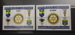 GABON ROTARY CLUB - 2005 RARE - LES 2 VALEURS : 125F & 2500F - MNH ** - Rotary, Lions Club