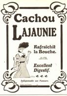 """PUB   CACHOU  """" LAJAUNIE  """"  1908  ( 1 A ) - Boîtes"""