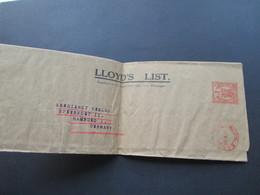GB 1931 Freistempel London  Post Paid Streifband Lloyd's List An Den Seedienst Verlag In Hamburg I - 1902-1951 (Könige)