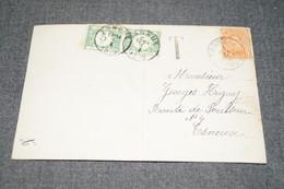 Superbe Ancien Envoi Courrier Avec TAXE 1920 , Esneux - Trooz - Taxes