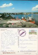 Aland  Postcard Käringsund Fishing, Eckerö  Cancelled Old Mail Route, Eckerö Linjen MS Roslagen 7.10.89 - Aland