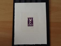 Epreuve D'artiste Y&T 1174 Europa CEPT 1958 Signée Par Gandon. - Artist Proofs