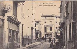 63. CHATEL GUYON. CPA. LA PLACE ET LA RUE DU MARCHE. ANIMATION - Châtel-Guyon