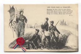 Une Vision Dans La Tranchée - Jeanne D'Arc - Guerre 1914-18 - First World War French Patriotic Postcard - War 1914-18