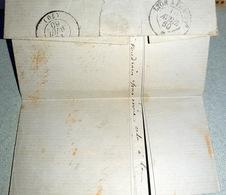 71 MONTCENIS  OBLITERATION  DOUBLE CERCLE A DATE 1838 - Marcophilie (Lettres)