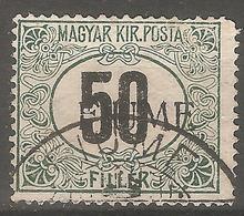 1918 - FIUME Porto CRNE BROJKE 50 Fil. - Fiume