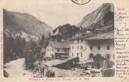 LA THUILLE-AOSTA-VILLAGGIO LA BALMA-CARTOLINA VIAGGIATA IL 24-8-1903 - Aosta