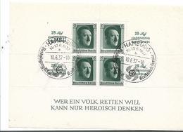 DSP135f/  Block 9, Kulturspendeblock 1937, Hamburg-Stempel - Blocks & Kleinbögen