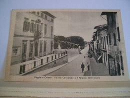 Prato - Poggio A Caiano - Via Dei Cancellieri - Palazzo Delle Scuole - Scuola - Animata - Cartolina Storica - - Prato