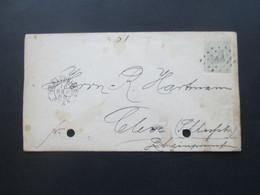Niederlande 1885 Ganzsachen Umschlag Punktstempel 44 Und K2 'SGravenhage Nach Cleve Mit Ak Stempel - Periodo 1852 – 1890 ( Guillermo III)
