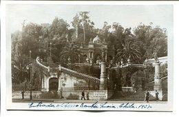 ENTRADA AL CERRO SANTA LUCIA, CHILE. POSTAL CPA AÑO 1937 NOT USED -LILHU - Chile