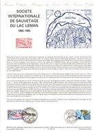 DOCUMENT FDC 1985 SOCIETE INTERNATIONALE DE SAUVETAGE DU LAC LEMAN - Documents De La Poste