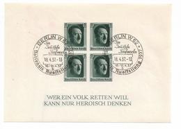 DSP133c/ BLOCK 8 NAPOSTA 1937, Mit Ausstellungsstempel - Deutschland