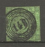 BADE -  Yv.,Mi. N°6   (o)   3k  Vert  Cote 8 Euro BE    2 Scans - Baden