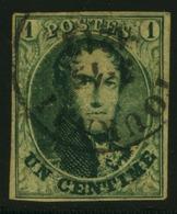 N°9 - 1c Vert , Bien Margé, Oblit. Tournai - 1858-1862 Medaillen (9/12)