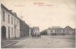 Bornem - Bornhem - Kerk-Plaats - Geanimeerd - 1914 - Uitg. Marco Marcovici - Bornem
