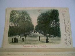 1909 - Firenze - Via Del Re - Passeggiata Delle Cascine - Animata - Cartolina Storica Originale - Firenze