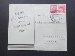 "CSSR 1936 ? / 39 ? Kapujte Klih ""Krokodil"" Od Firmy Karel Kozanek Prerov Böhmen Und Mähren Mitläufer? - Czechoslovakia"